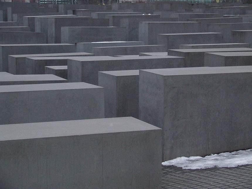 Paminklas holokaustui Berlyne. gyčio norvilo nuotrauka