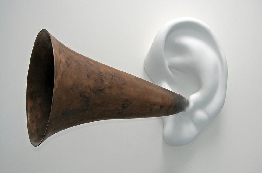 "John Baldessari. ""Beethoveno ruporas (su ausimi). Opus 131"", 2007. Menininko nuosavybė"