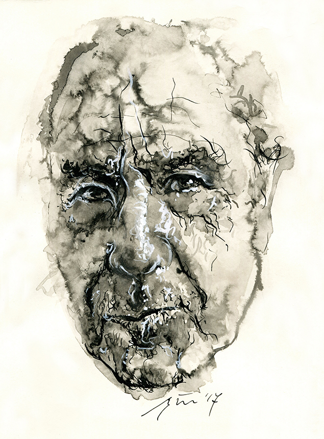 Michaelis Krügeris. Ugnės Žilytės piešinys