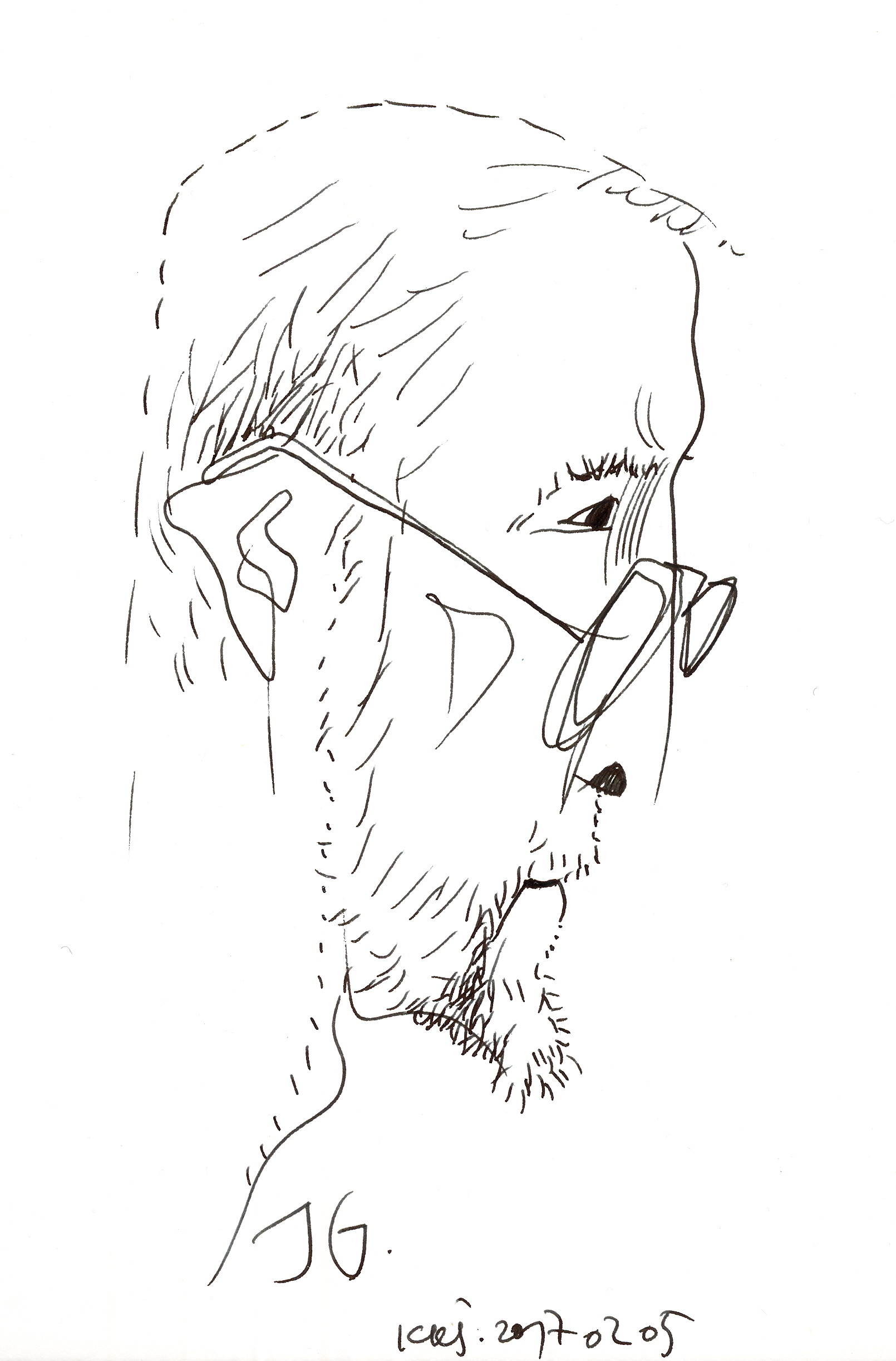 Jurgis Gimberis. Kazio Kęstučio Šiaulyčio piešinys