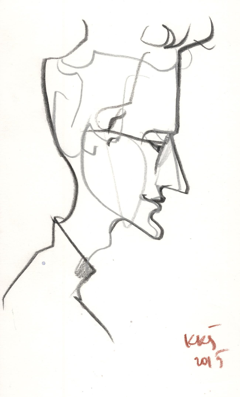 Paulius Juška. Kęstučio K. Šiaulyčio piešinys