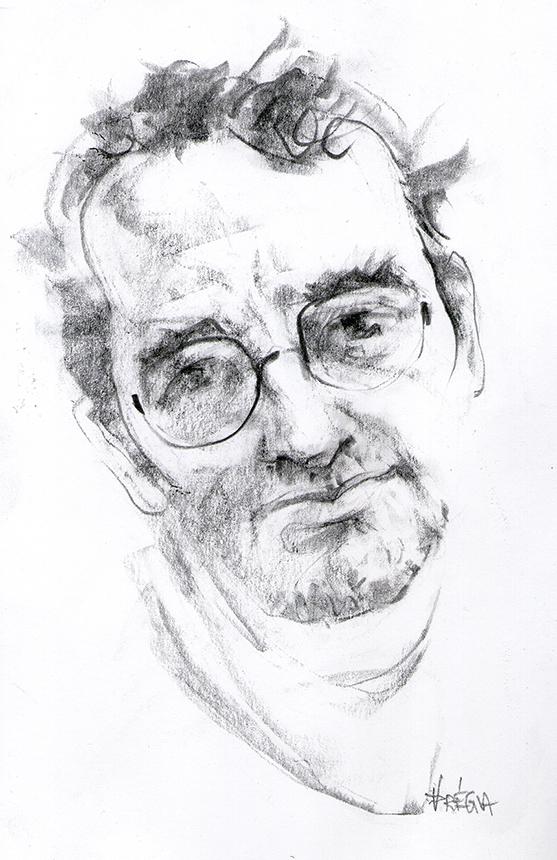 Roberto Bolano. Vido Drėgvos piešinys