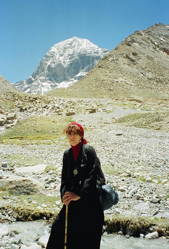Jurga Ivanauskaitė Tibete 1998 m. Nuotrauka iš šeimos archyvo