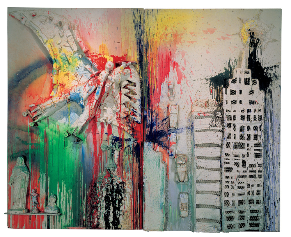 "Niki de Saint Phalle. ""Pterodaktilis virš Niujorko"", 1962. Niki de Saint Phalle labdaros meno fondas"