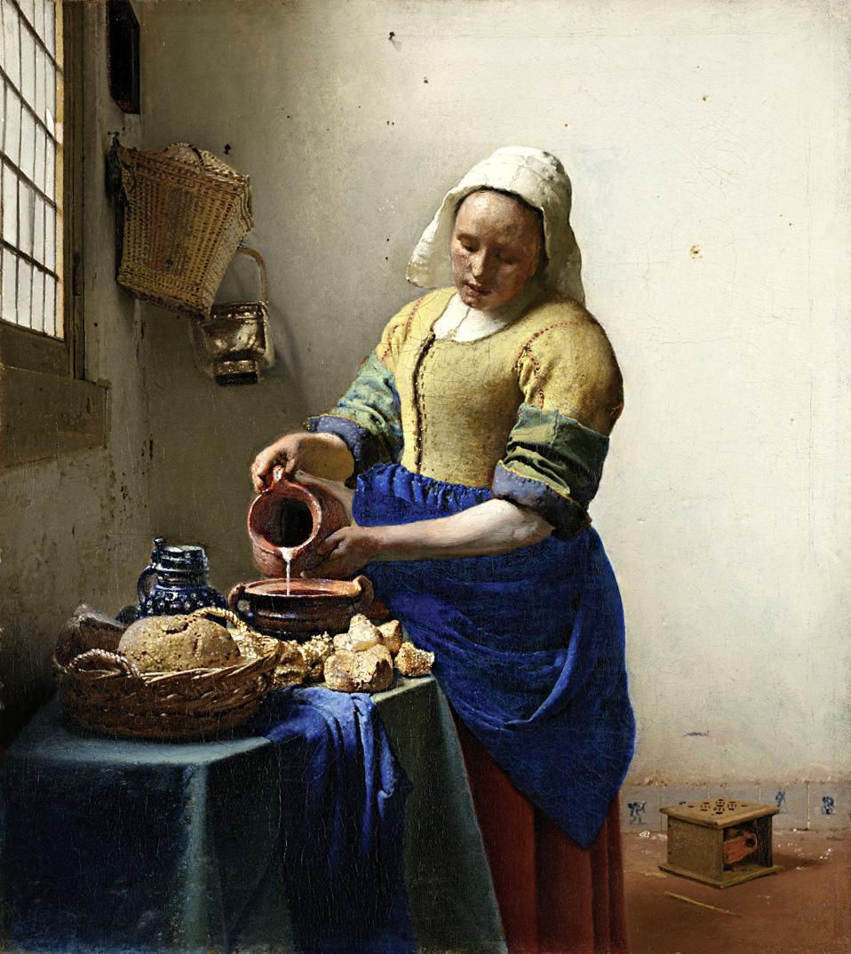 """Jan Vermeer. """"Pienininkė"""", apie 1660. Nacionalinis Amsterdamo muziejus"""
