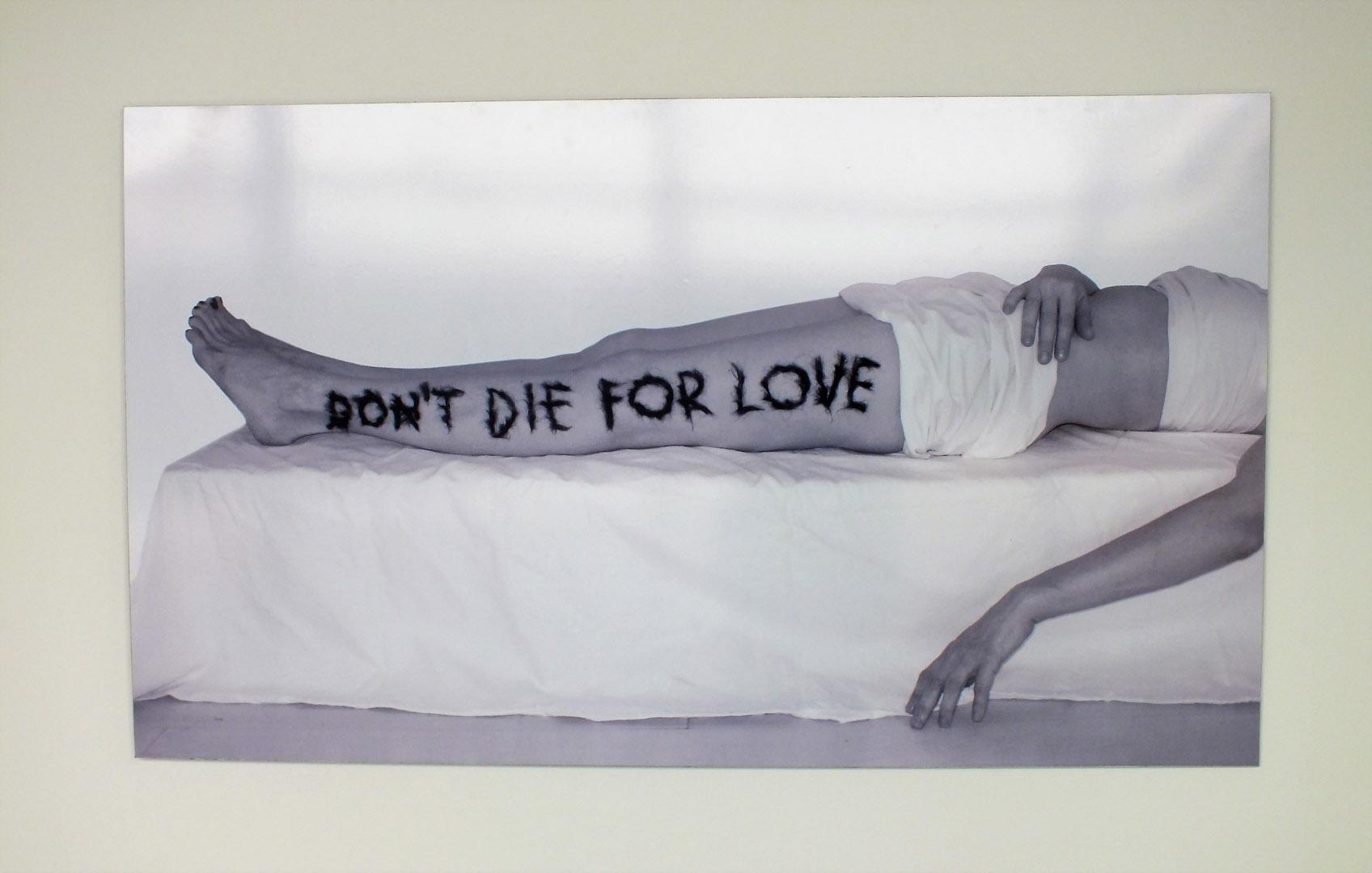 """Laisvydė Šalčiūtė. """"Nemirk dėl meilės"""", fotografija, 2010, iš ciklo """"Kūno apieškojimas"""". gyčio norvilo nuotraukos"""