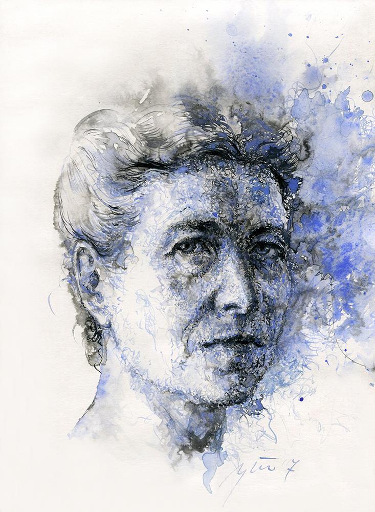 Simone de Beauvoir. Ugnės Žilytės piešinys