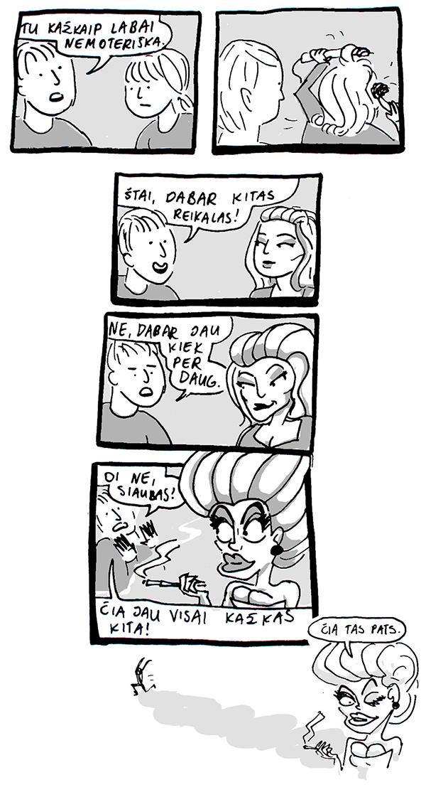 Miglės Anušauskaitės komiksai