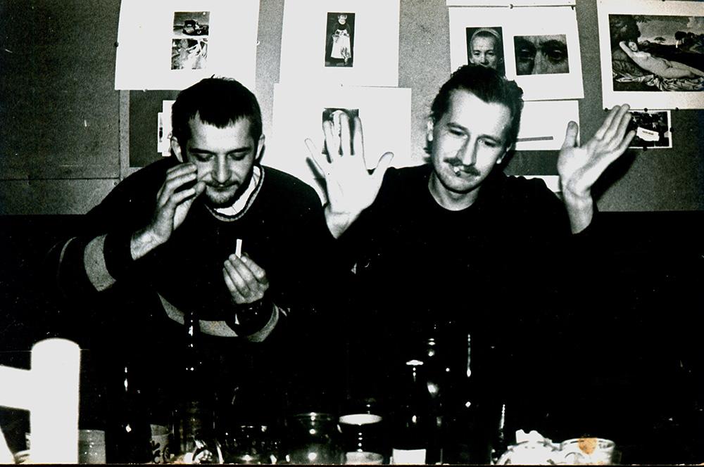 Ramūnas Paniulaitis ir poetas Borisas Lazukinas. Gintaro Zinkevičiaus nuotrauka