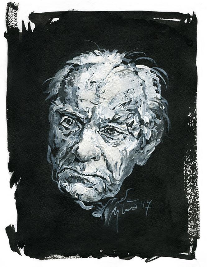 Wiesław Myśliwski. Ugnės Žilytės piešinys