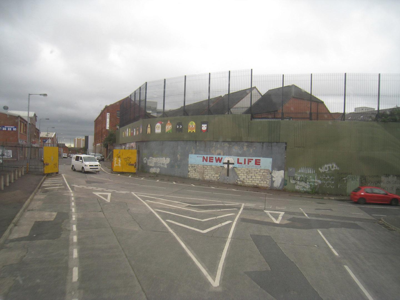 Siena tarp bendruomenių Belfaste. Autoriaus nuotraukos