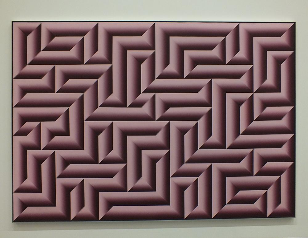 """Kazys Varnelis. """"Netikras labirintas II"""", drobė, akrilas, 1971"""