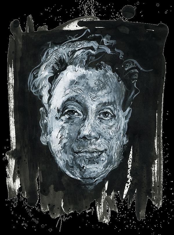 Johannesas Bobrowskis. Ugnės Žilytės piešinys