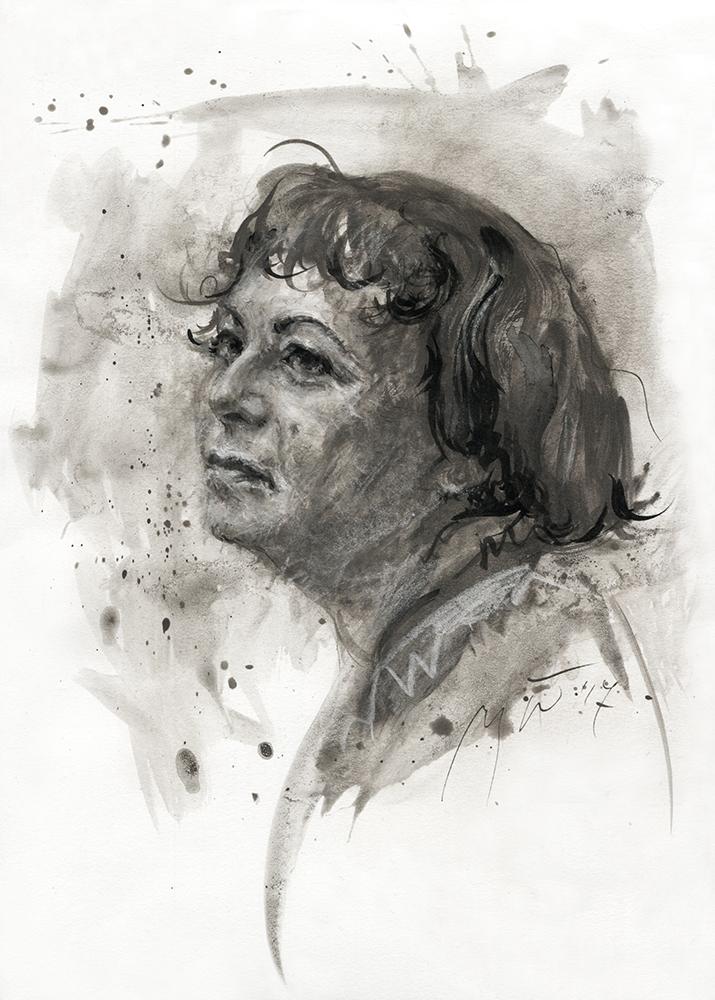 Lena Eltang. Ugnės Žilytės piešinys