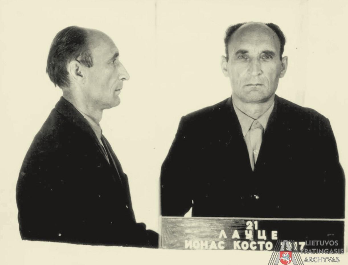 1971 m. liepos 20 d. KGB prie LSSR Ministrų Tarybos Tardymo izoliatoriuje daryta Jono Laucės nuotrauka. Lietuvos ypatingasis archyvas, f. K-1, ap. 58, b. P-11802, t. 1, l. 13.