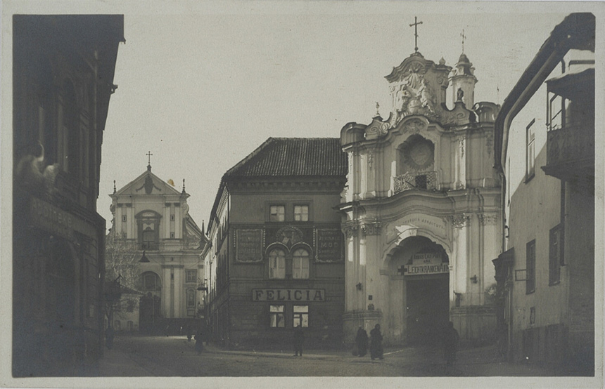 Bazilijonų vienuolynas - viena iš filomatų kalinimo vietų. XX a. pradžios atvirukas