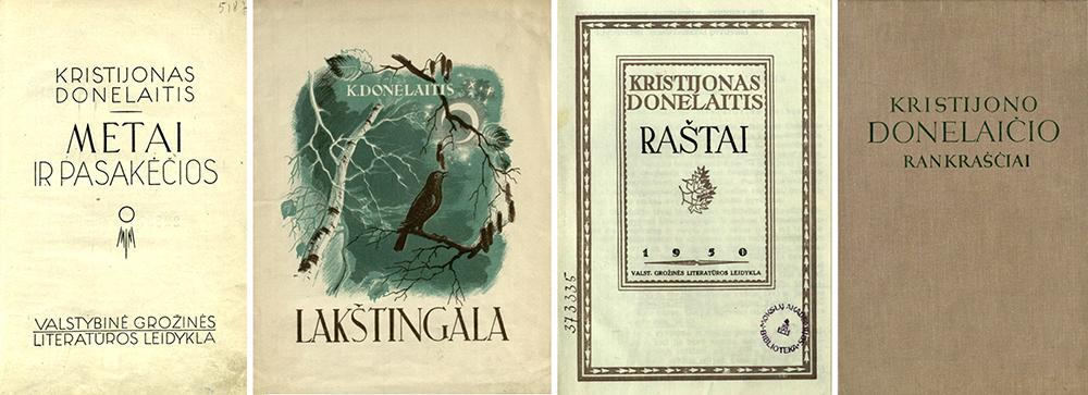 2 pav. Pokariu išleistos K. Donelaičio knygos, 1945–1955 m.
