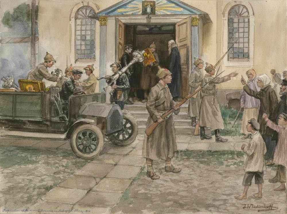 """""""Cerkvės turto rekvizavimas"""", 1922"""