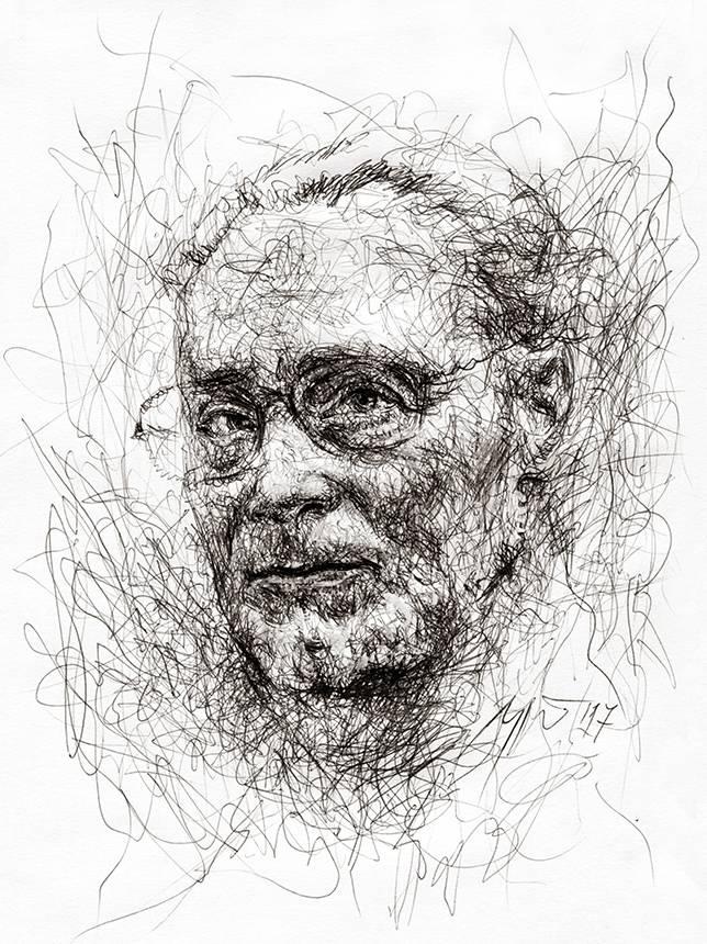 Primo Levi. Ugnės Žilytės piešinys