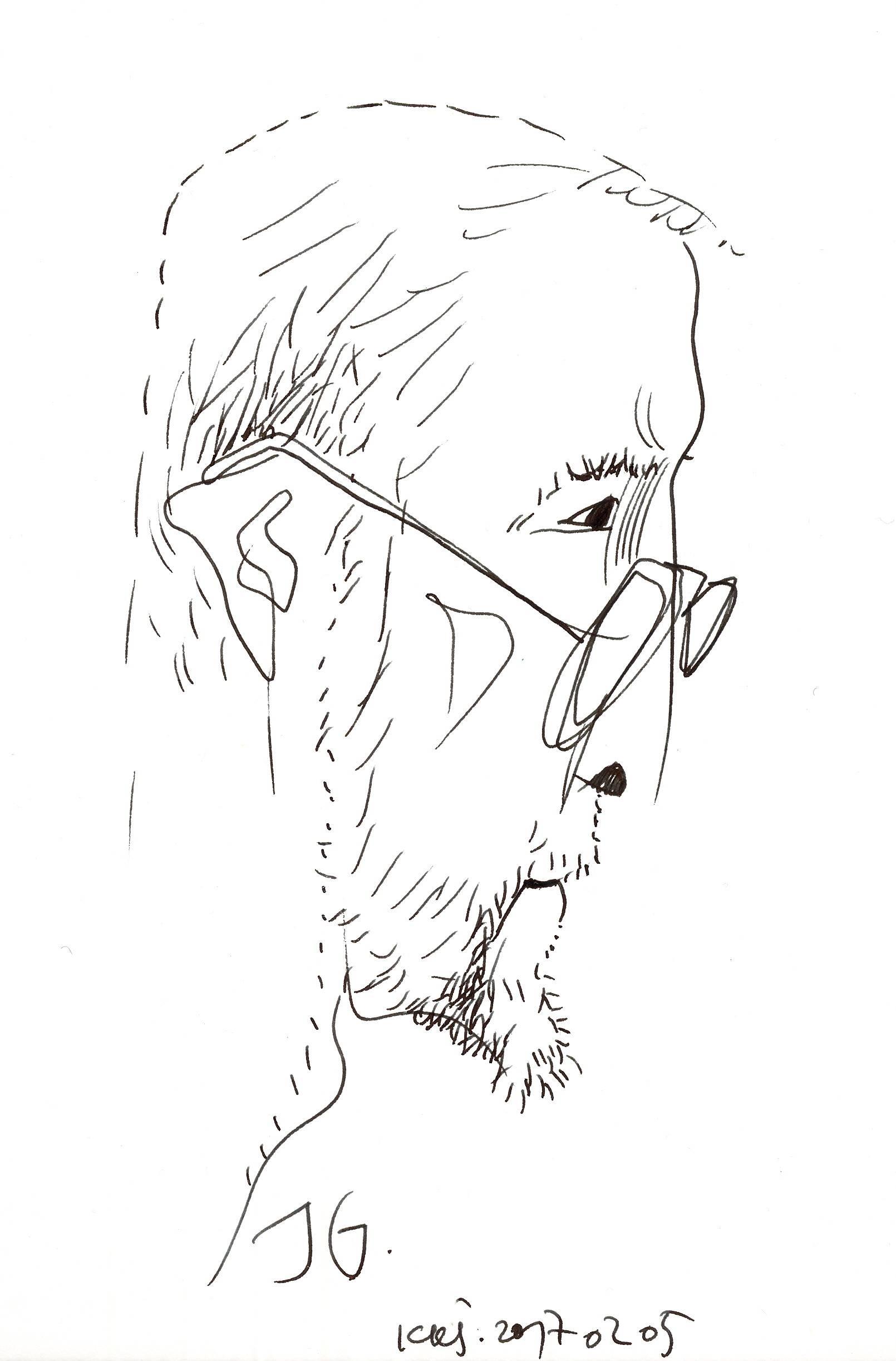 Jurgis Gimberis, Kazio Kęstučio Šiaulyčio piešinys