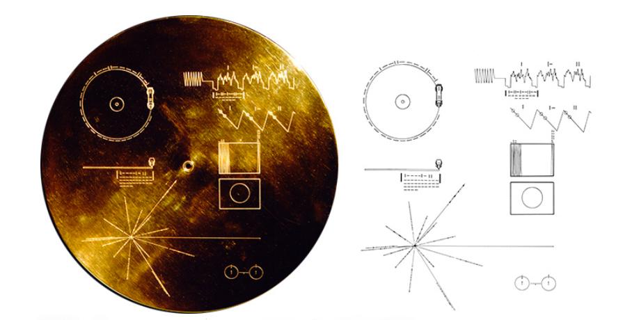 """JAV prezidento Jimmy Carterio kitoms civilizacijoms paliktas įrašas auksinėje erdvėlaivio """"Voyager"""" plokštelėje"""