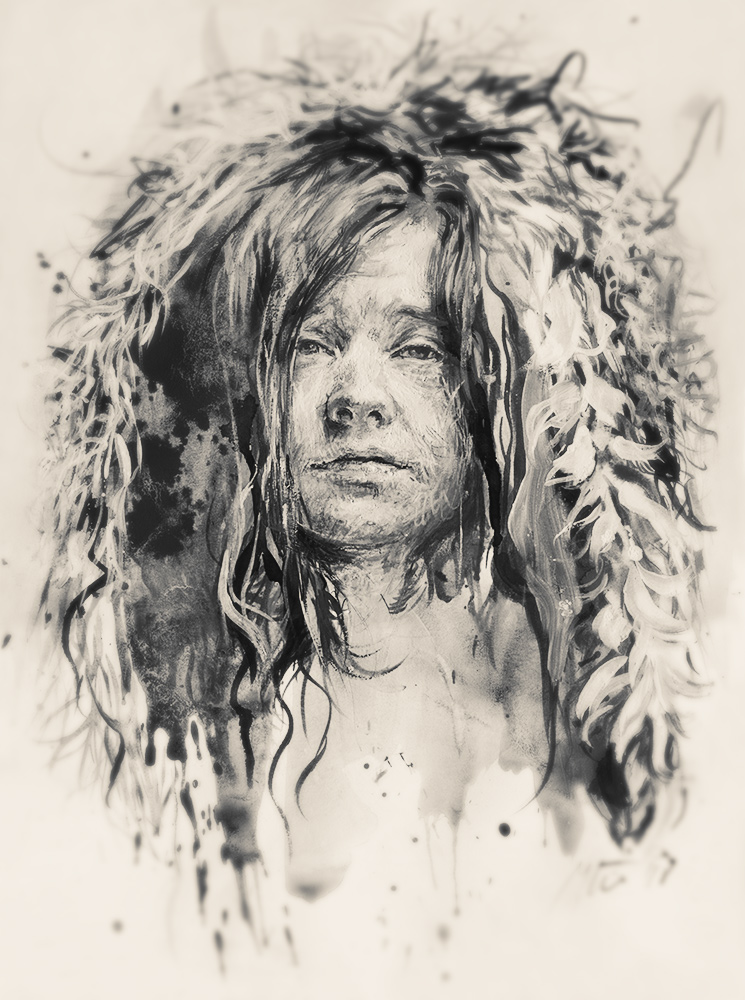 Janis Joplin. Ugnės Žilytės piešinys