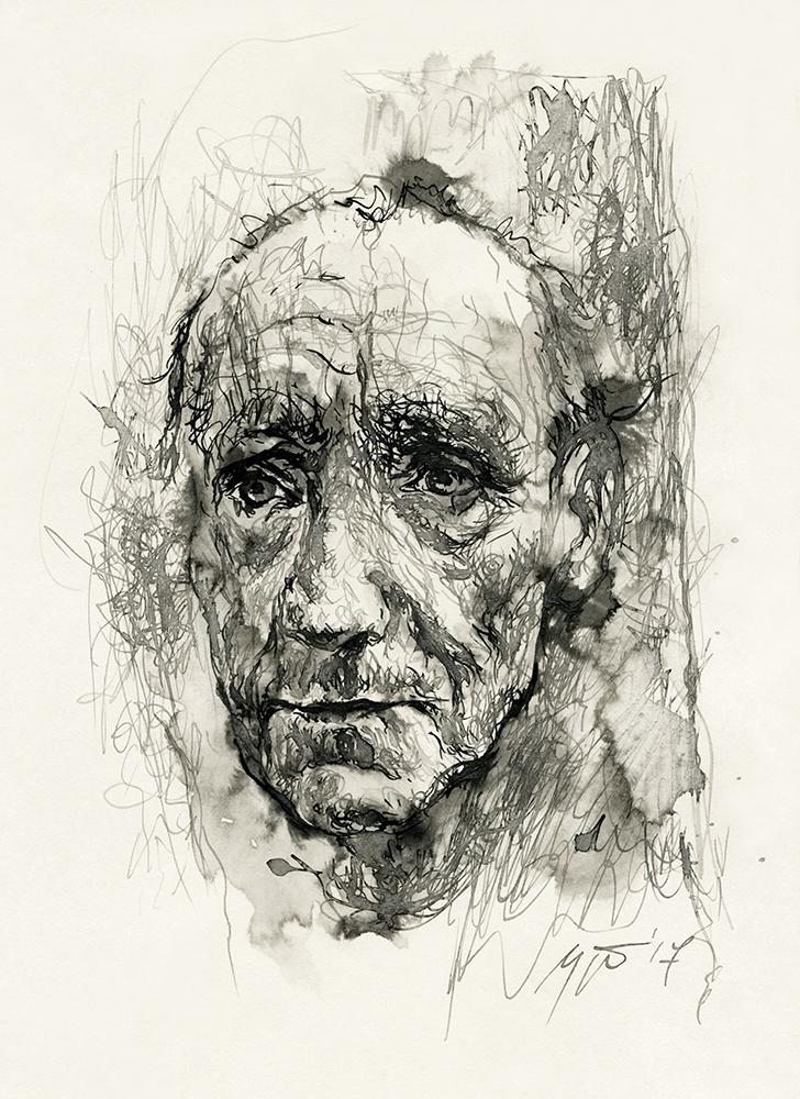 Williamas S. Burroughsas. Ugnės Žilytės piešinys