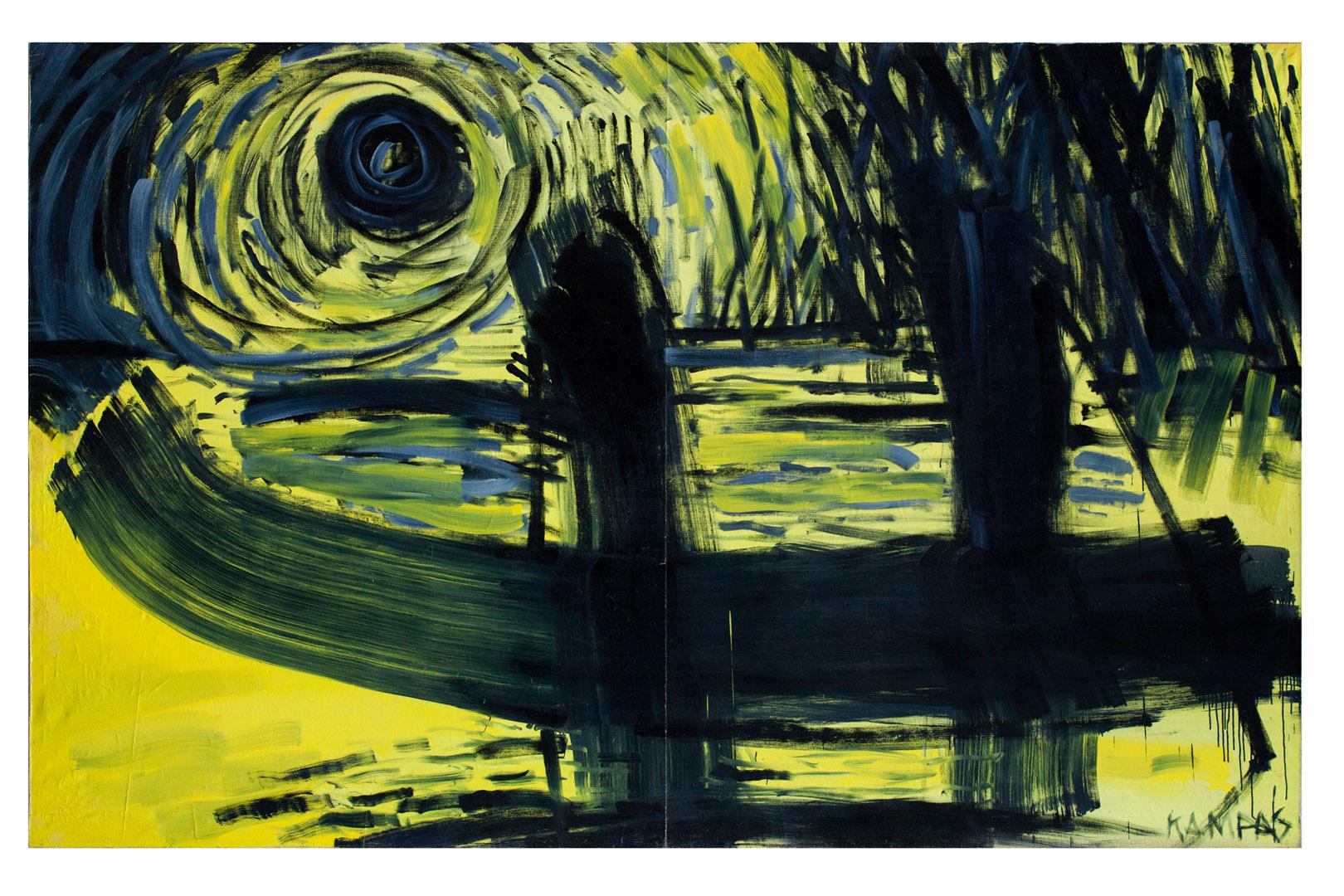 """Rimvidas Jankauskas-Kampas. """"Juoda saulė"""", 1993. Eugenijaus Miliūno nuosavybė"""