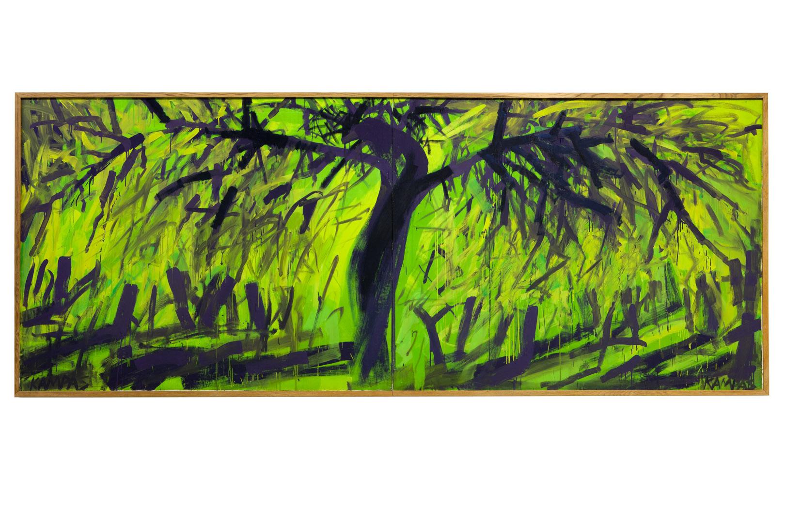 """Rimvidas Jankauskas-Kampas. """"Nukryžiuota obelis"""", 1993. Privati nuosavybė. Rimantės Ropytės nuotrauka"""