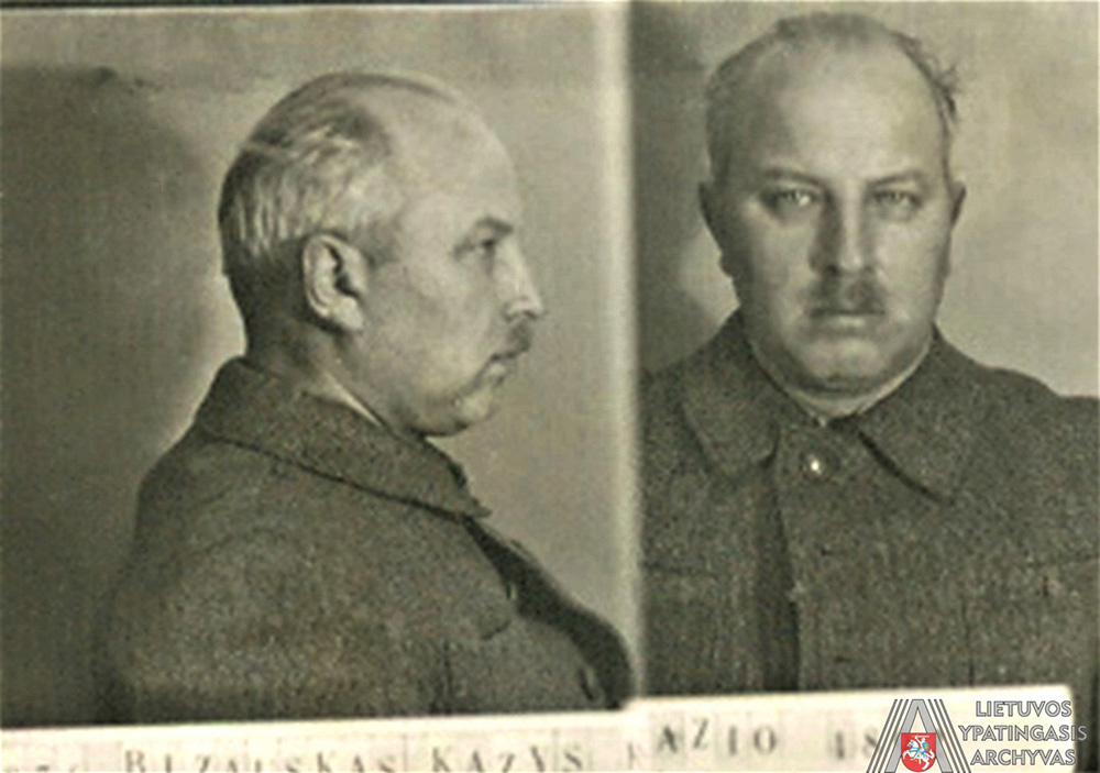 K. Bizauskas Lietuvos SSR vidaus reikalų liaudies komisariato kalėjime Nr. 1, Kaune, 1940 m. lapkričio 20 d. Lietuvos ypatingasis archyvas, f. K-1, ap. 58, b. b. 7831/3, l. 5 atv.