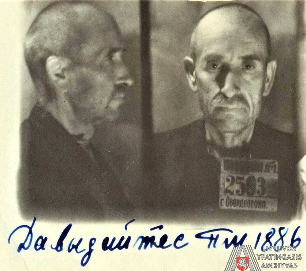 P. Dovydaitis SSRS vidaus reikalų liaudies komisariato Sverdlovsko srities valdybos kalėjime Nr. 1 Sverdlovske, 1942 m. Lietuvos ypatingasis archyvas, f. K-1, ap. 58, b. P-12293, kalinio asmens byla, l. 3