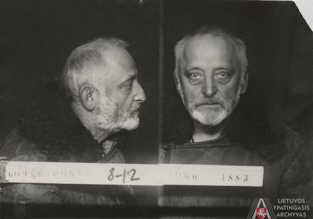 V. Mironas Lietuvos SSR vidaus reikalų liaudies komisariato kalėjime Nr. 1, Kaune, 1940 m. lapkričio 11 d. Lietuvos ypatingasis archyvas, f. K-1, ap. 58, b. P-16211, t. 1, l. 8–12