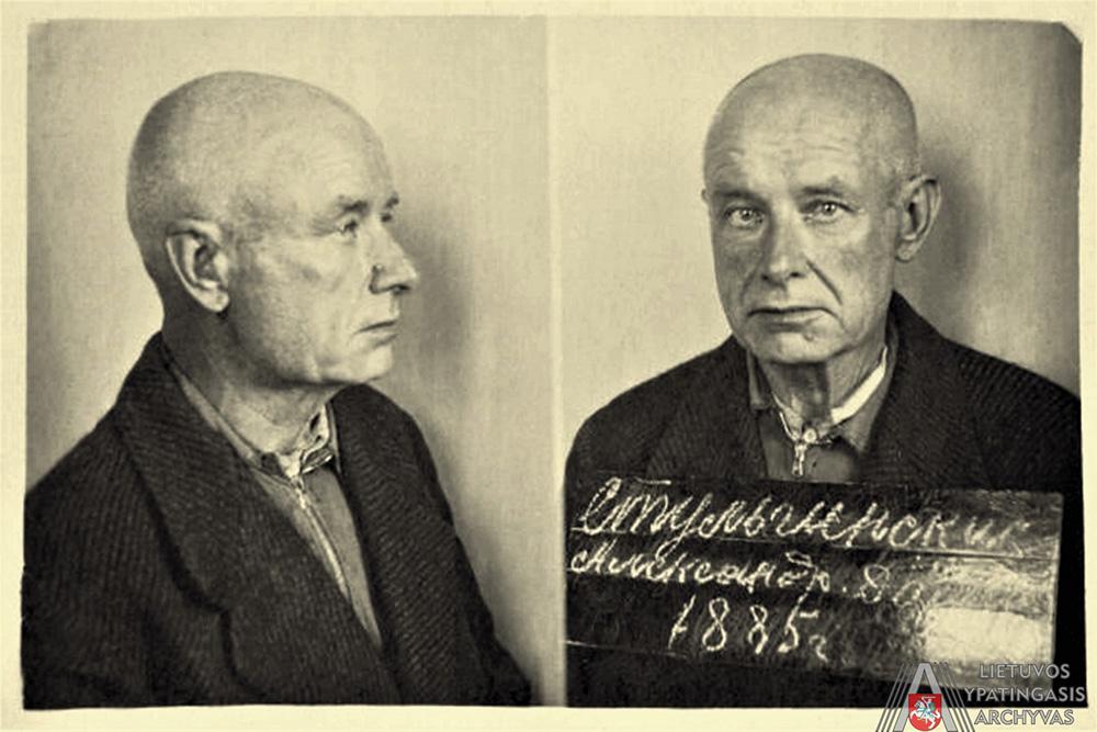 A. Stulginskis 1942 m. sausio 27 d. SSRS vidaus reikalų liaudies komisariato Krasnojarsko krašto valdybos kalėjime. Lietuvos ypatingasis archyvas, f. K-1, ap. 58, b. 42880/3, t. 2, l. 129-1