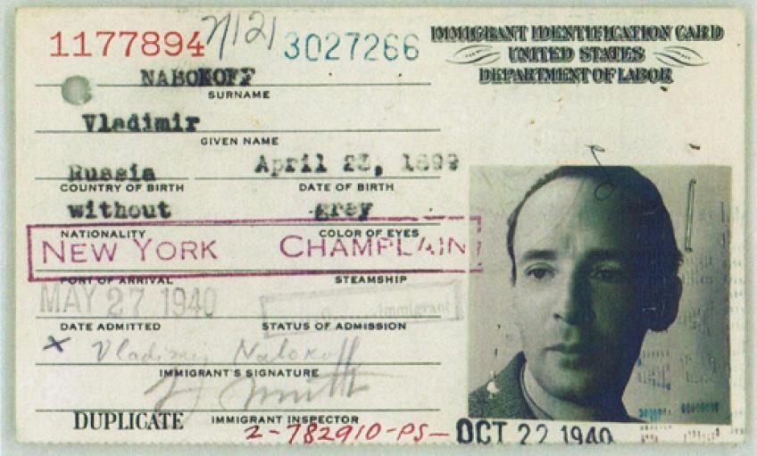 "V. Nabokovo imigranto asmens kortelė (""Zvezda"", 1999, Nr. 4)"