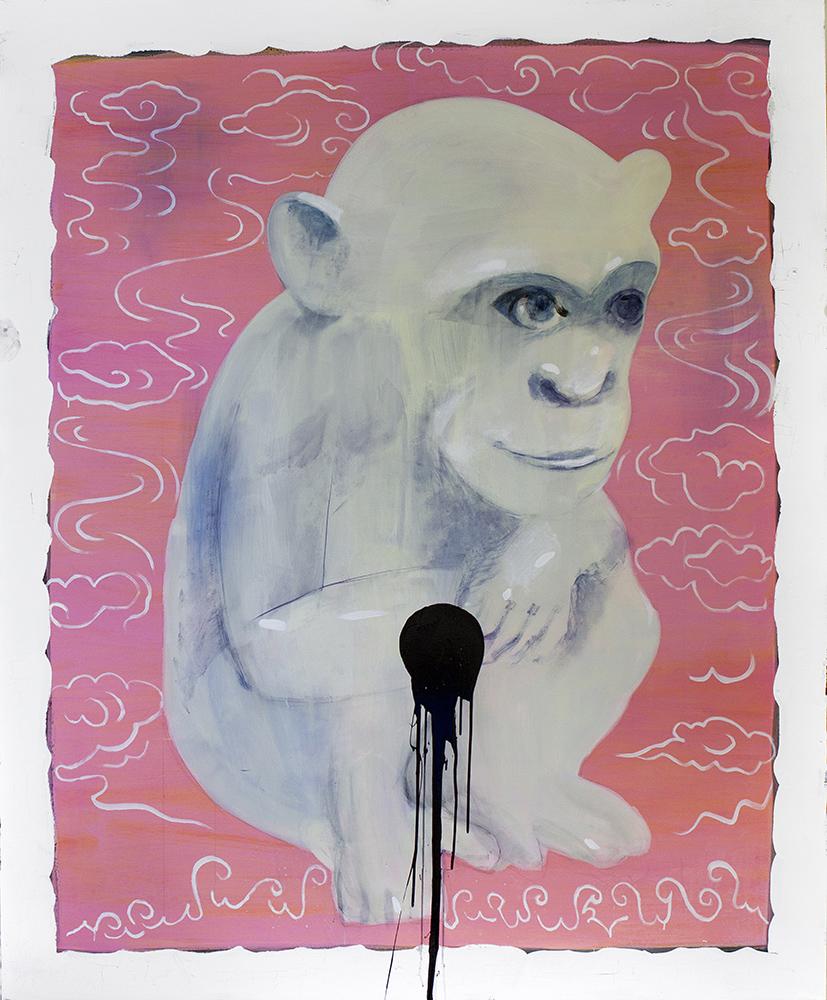 """Ģirts Muižnieks. """"Balta beždžionė"""", 2014,  """"Māksla XO"""" galerija (Ryga).  Šių metų """"ArtVilnius '18"""" akcentas  """"Focus–Baltic"""" tema: Lietuva, Latvija,  Estija, kurios švenčia valstybingumo  šimtmetį. Bus pristatyta išsami šiuolaikinio Baltijos šalių meno panorama"""