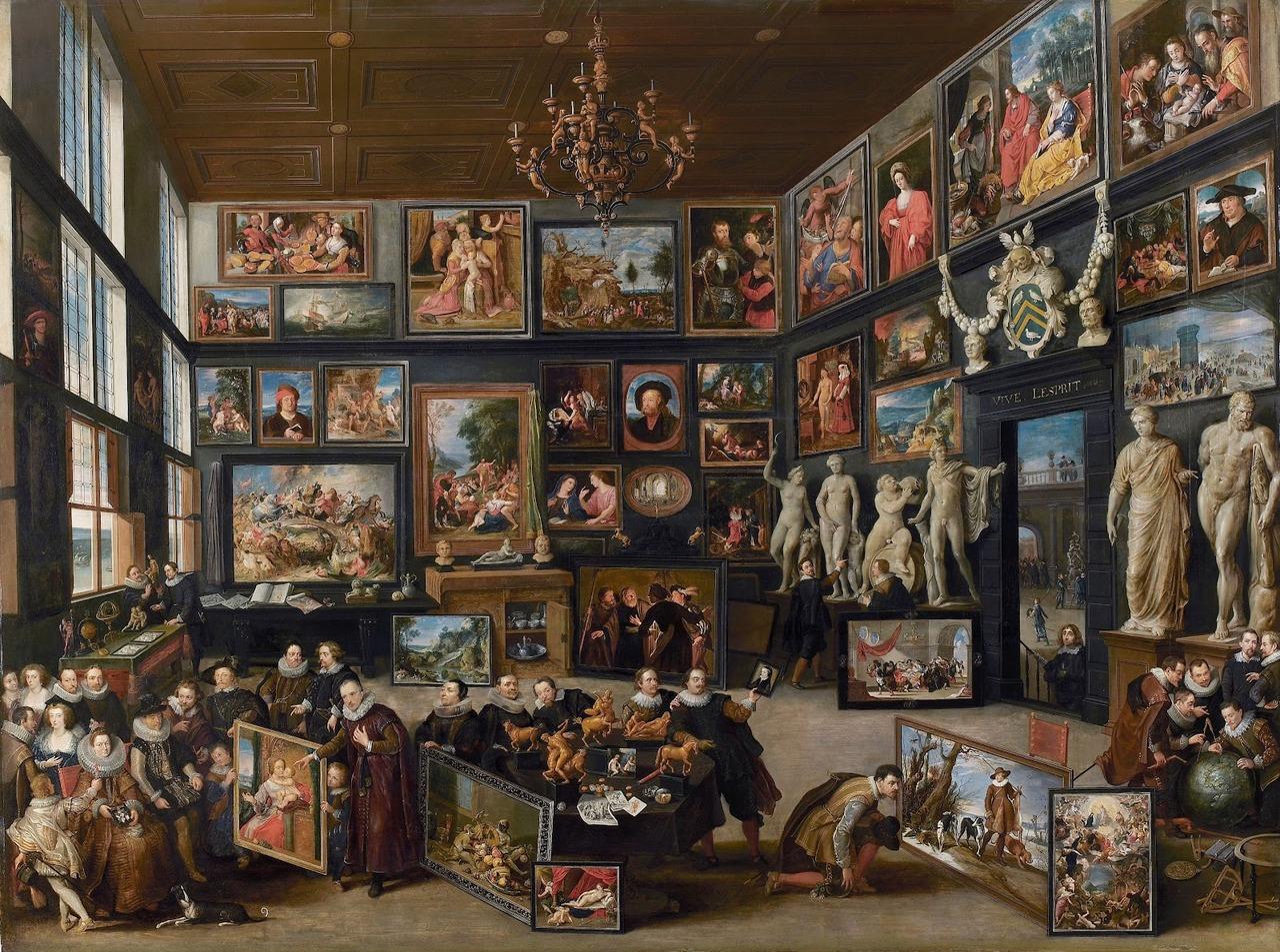 """Willem van Haecht. """"Cornelio van der Geesto galerija"""", 1628"""