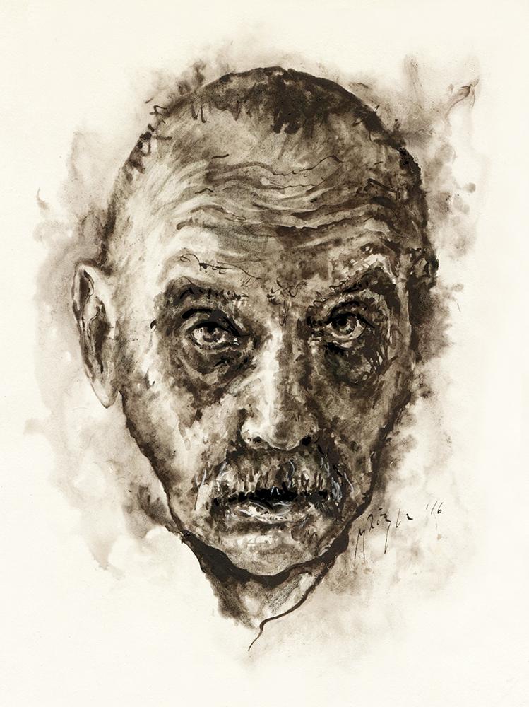 A. J. Greimas.  Ugnės Žilytės piešinys