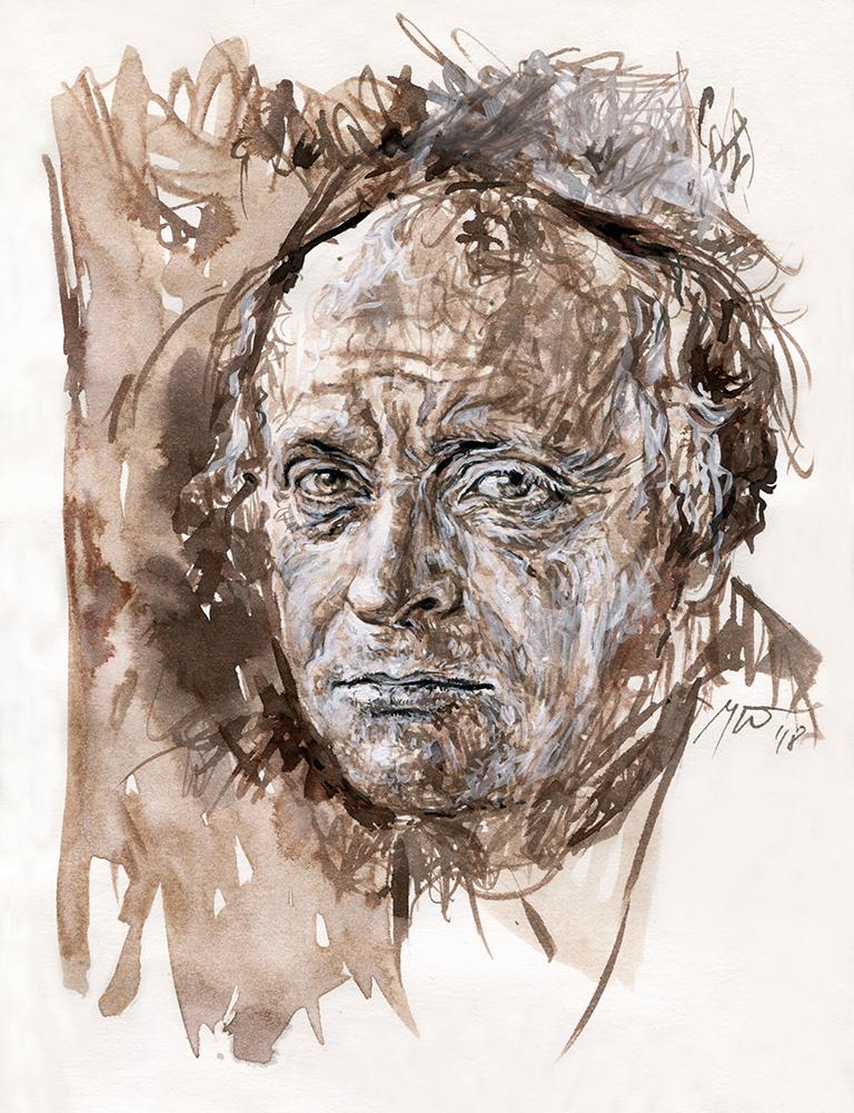 Josifas Brodskis. Ugnės Žilytės piešinys