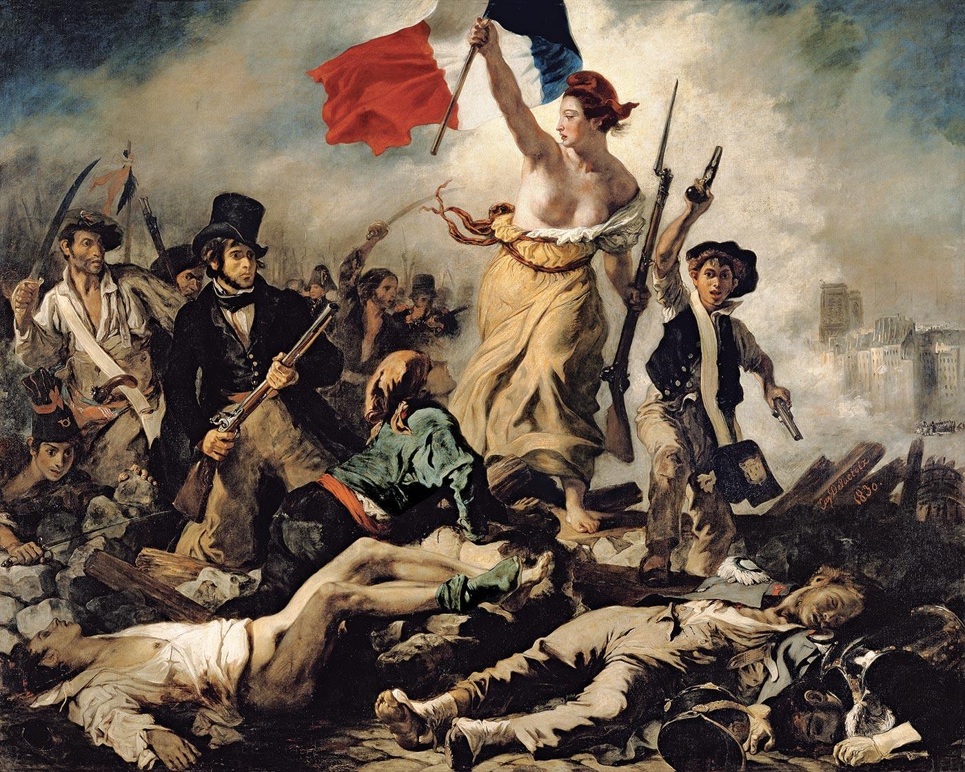 """Eugène Delacroix. """"Laisvė"""", 1830"""
